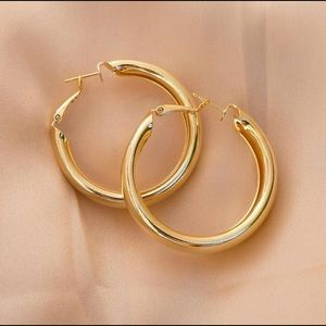 Jewelry - 18K Gold Plated hoops